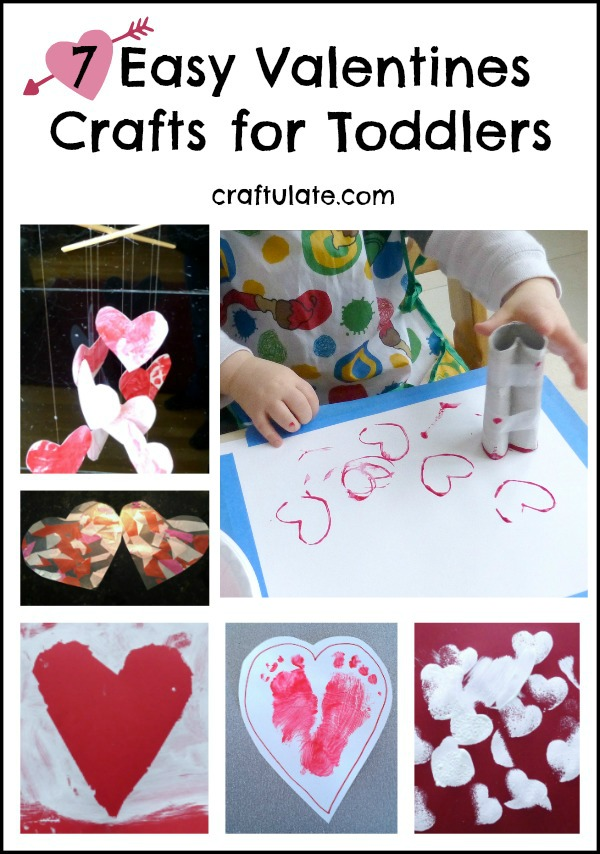 7 Easy Valentines Crafts for Toddlers - perfect for little ones!