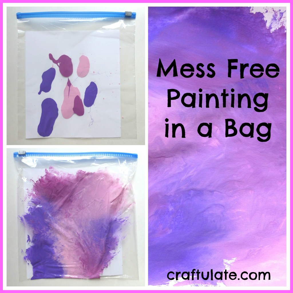 Mess Free Painting in a Bag - art technique for toddlers and young children