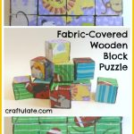 Fabric-Covered Wooden Block Puzzle
