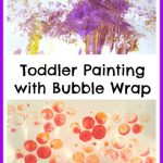 Toddler Painting with Bubble Wrap