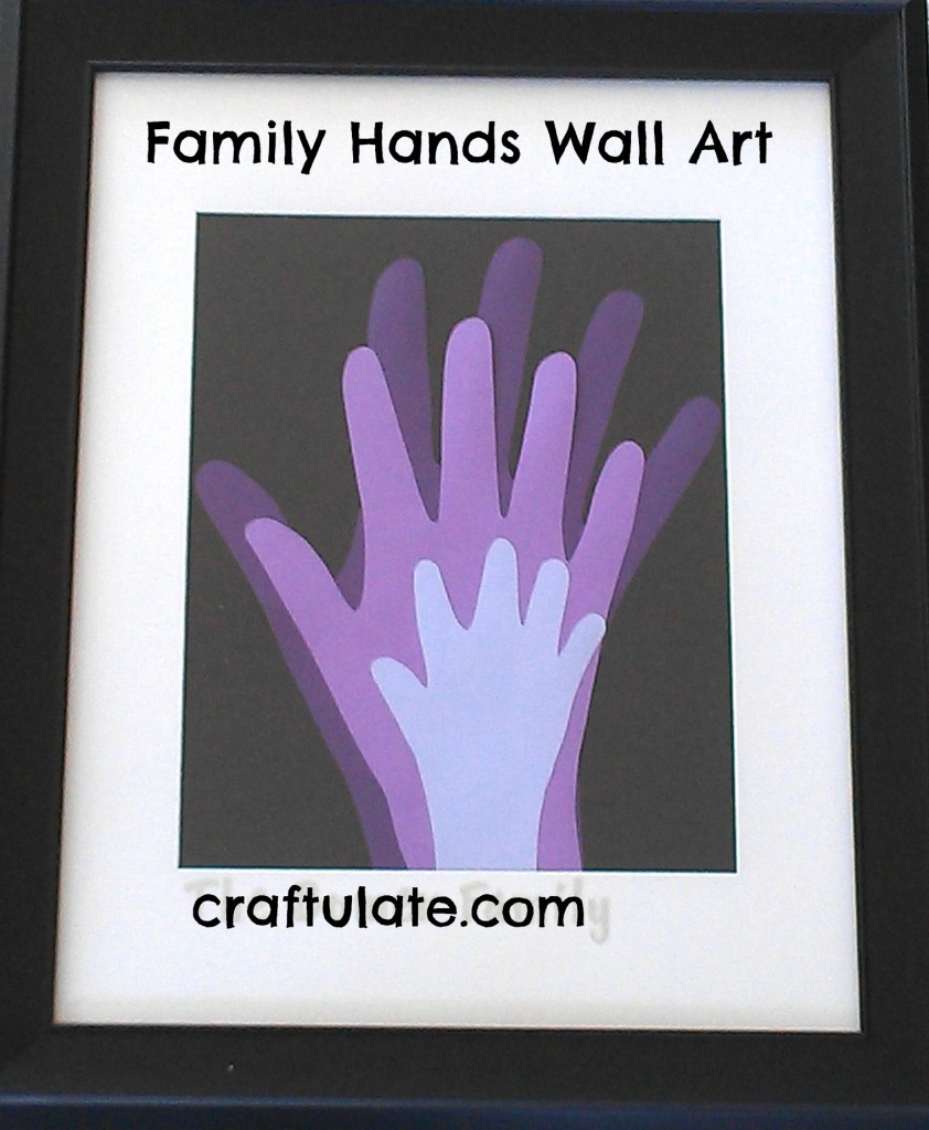 Family Hands Wall Art - a wonderful handprint keepsake
