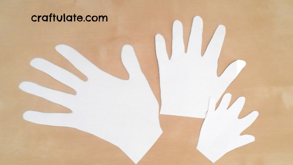 Craftulate: Family Hands Wall Art