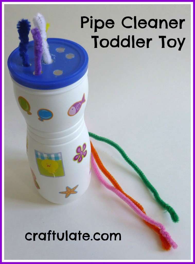 Pipe Cleaner Toddler Toy - fine motor skill practice
