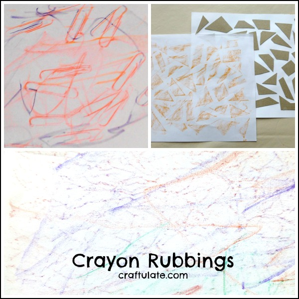 Crayon Rubbings - art activity for toddlers