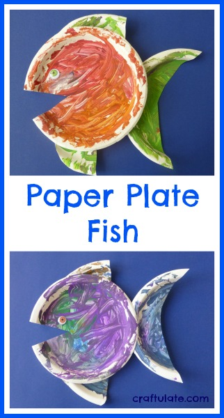 Paper Plate Fish from Craftulate
