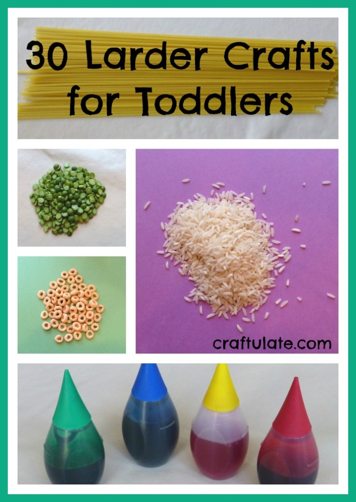 30 Larder Crafts and Activities for Toddlers