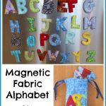 Magnetic Fabric Alphabet