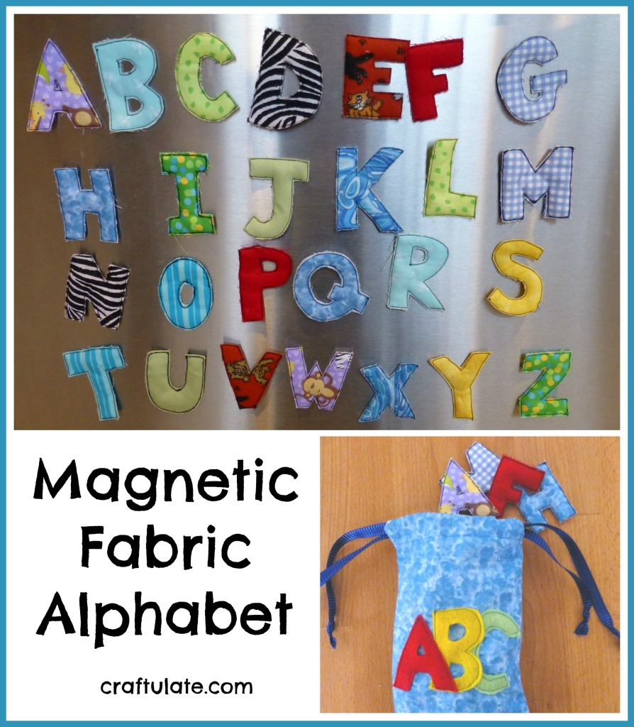 Magnetic Fabric Alphabet for kids to play with