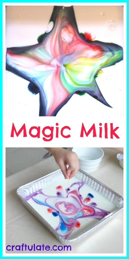 Magic Milk - a fun science experiment for little kids