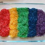 Coloured Rice for Sensory Play