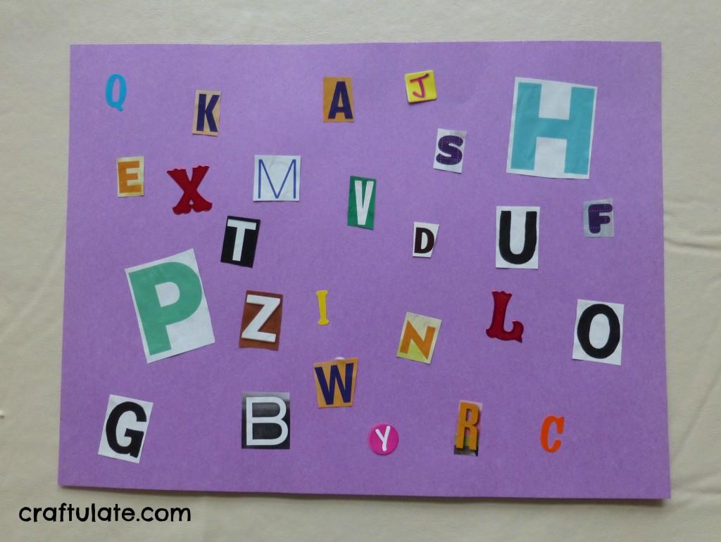 Easy DIY Alphabet Placemat