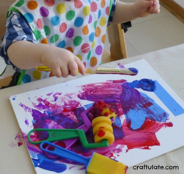 Tape Resist Painting - an easy art technique for young kids