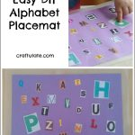 Easy DIY Alphabet Placemat