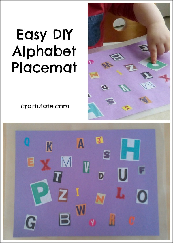 Easy DIY Alphabet Placemat - great for toddlers learning letters!