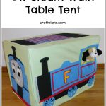 DIY Steam Train Table Tent