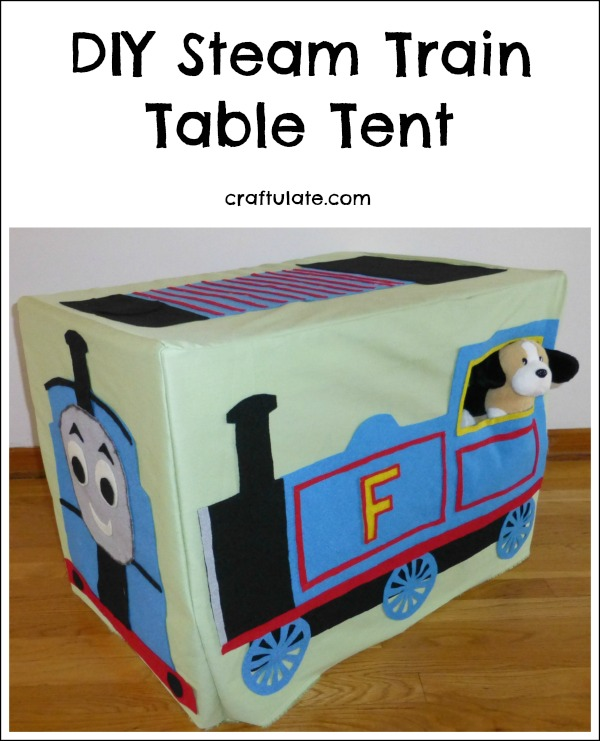 DIY Steam Train Table Tent - kids will love this Thomas-inspired table cover!