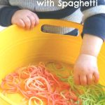 Sensory Play with Spaghetti