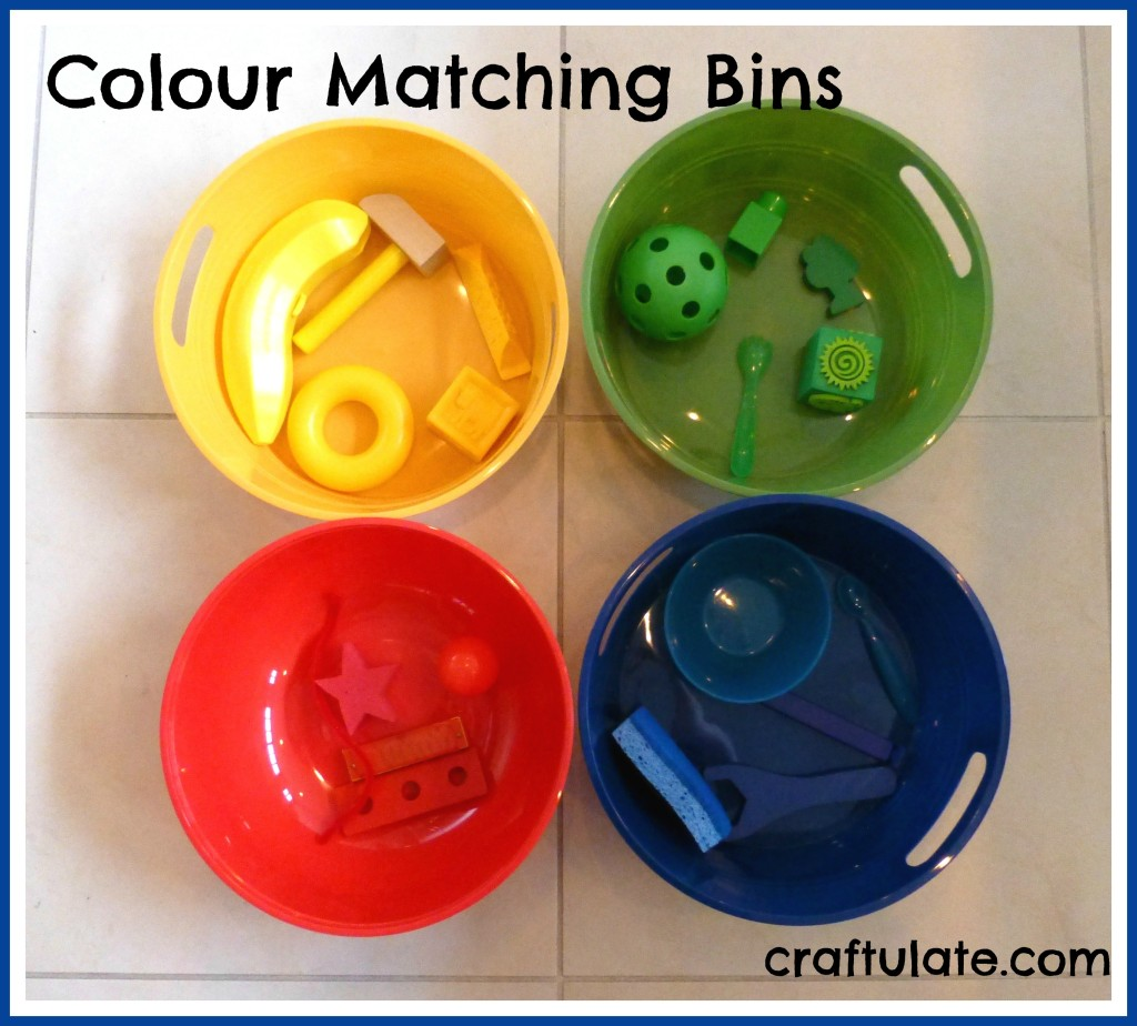 Colour Matching Bins - perfect for toddlers
