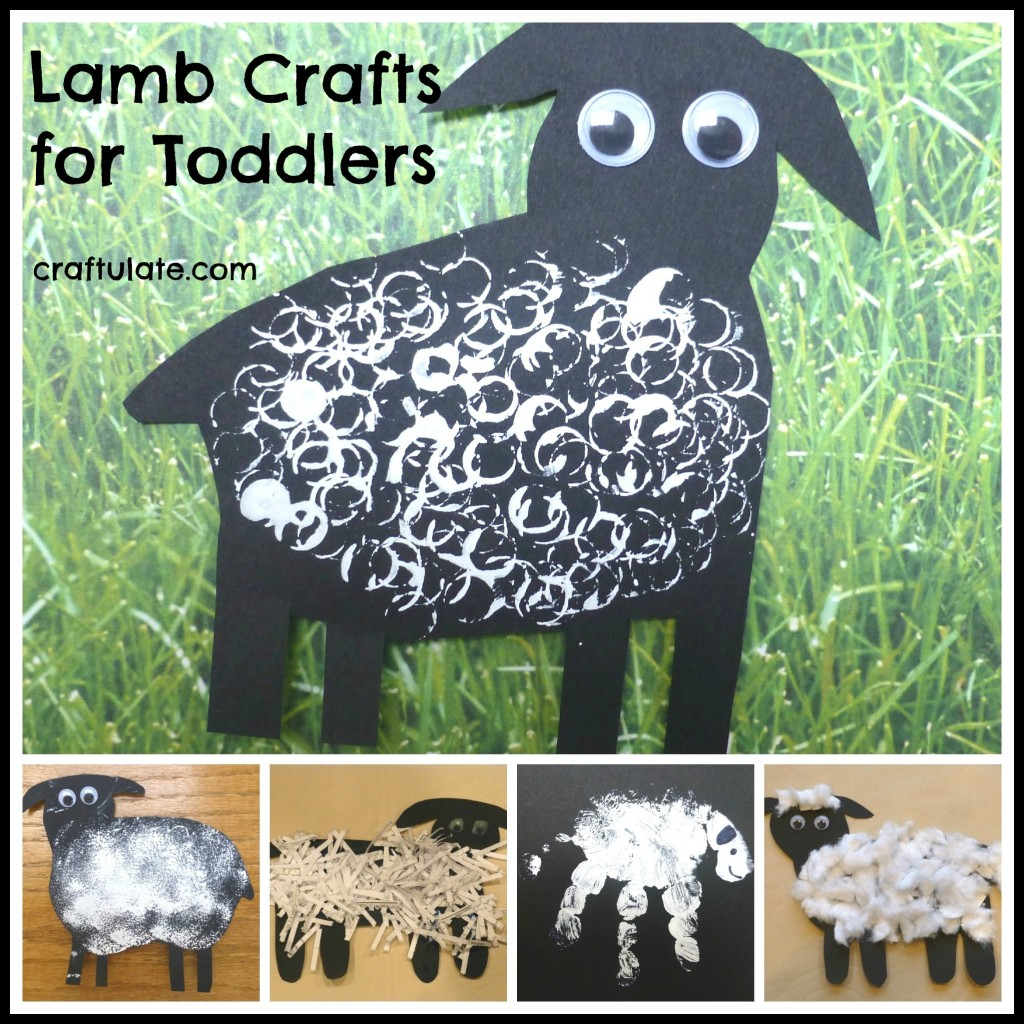 March crafts for kindergarten - Lamb Crafts For Toddlers