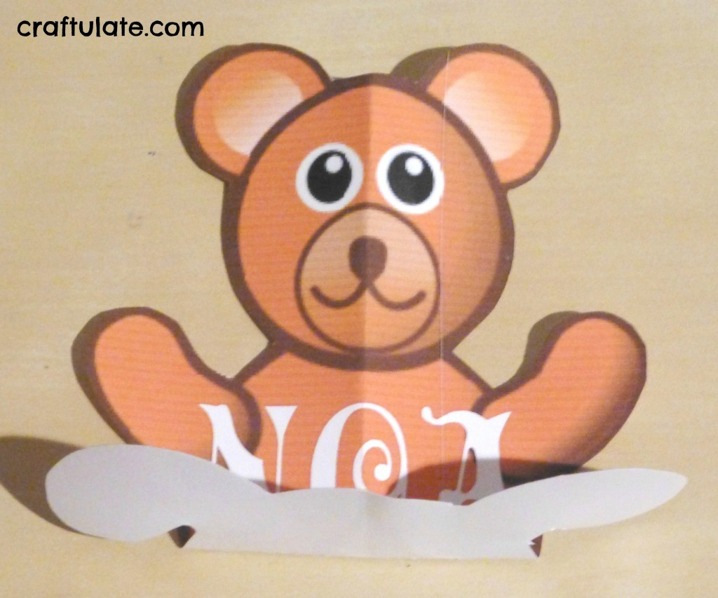 Bear Pop Up Card Tutorial