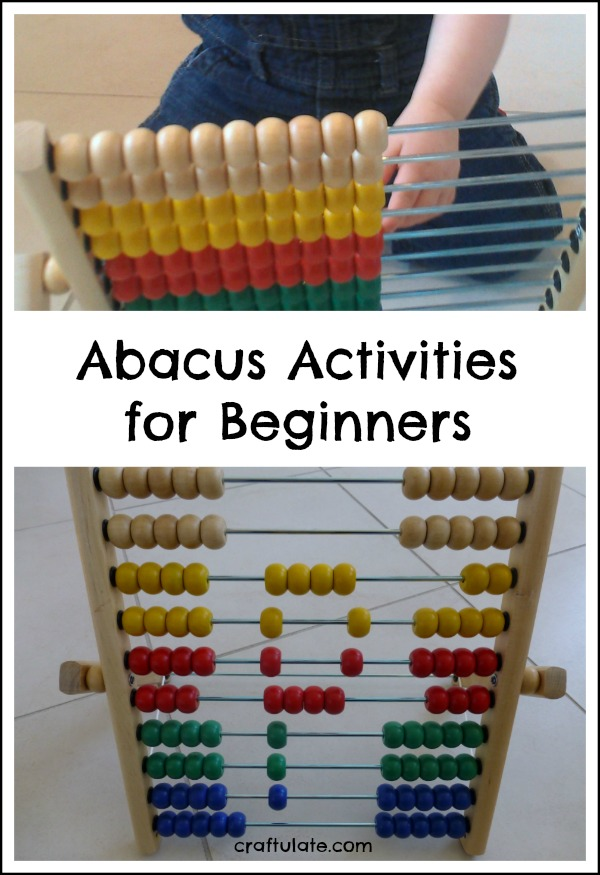 Abacus Activities for Beginners - perfect for toddlers