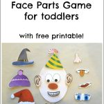 Face Parts Game – with free printable