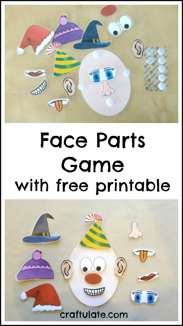 graphic relating to Printable Face Parts identified as Deal with Areas Activity - with absolutely free printable - Craftulate