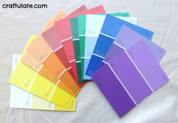 Homemade Colour Book from Paint Swatches