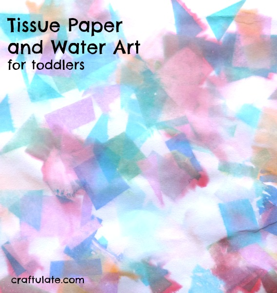 how to make fake water with tissue paper