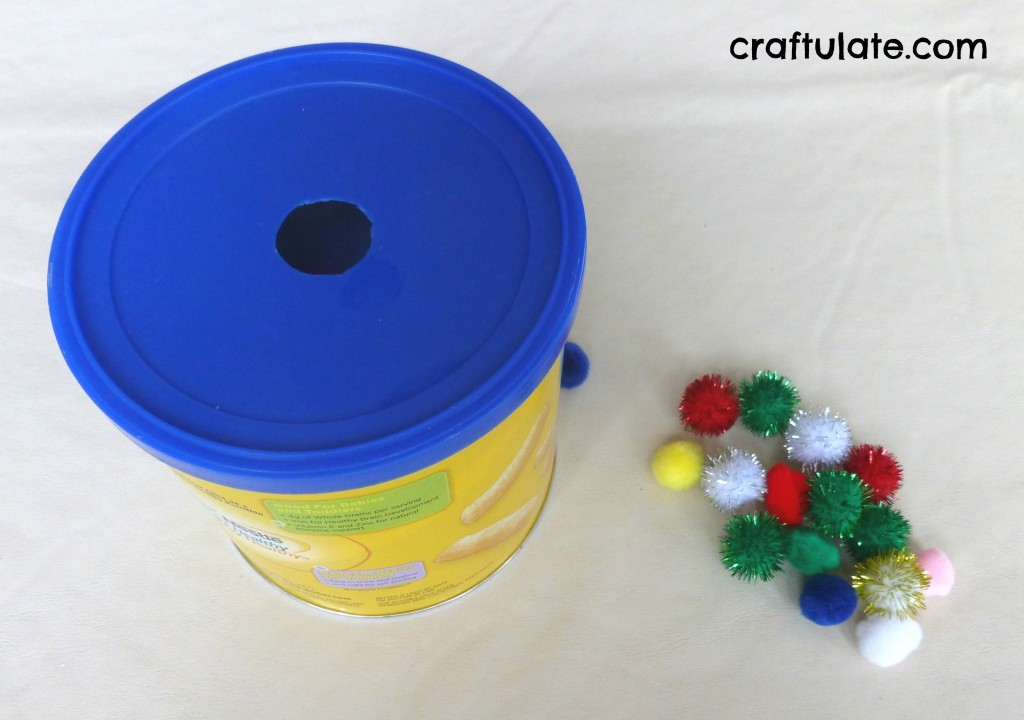 Pom Pom Drop - fine motor toy for toddlers