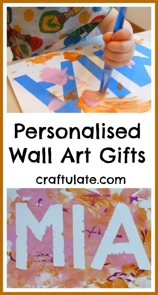 Personalised Wall Art Gifts for toddlers to make