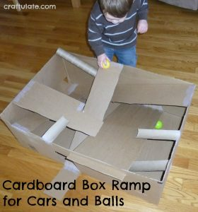 Cardboard Box Ramp