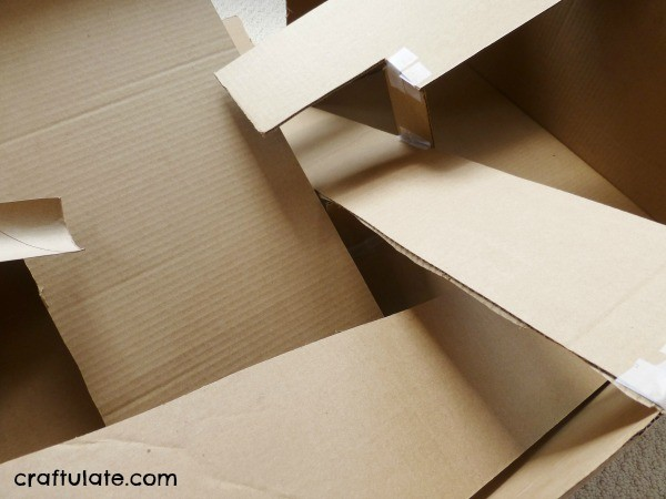 Cardboard Box Ramp for Cars and Balls