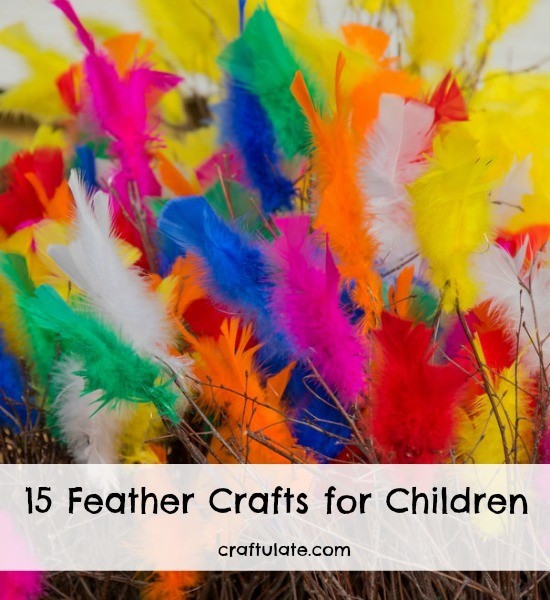15 feather crafts for children craftulate