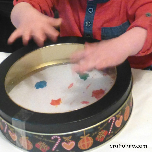 Marble Painting in a Cake Tin