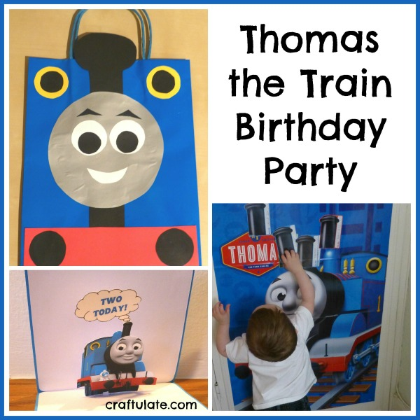 thomas the train birthday party craftulate. Black Bedroom Furniture Sets. Home Design Ideas