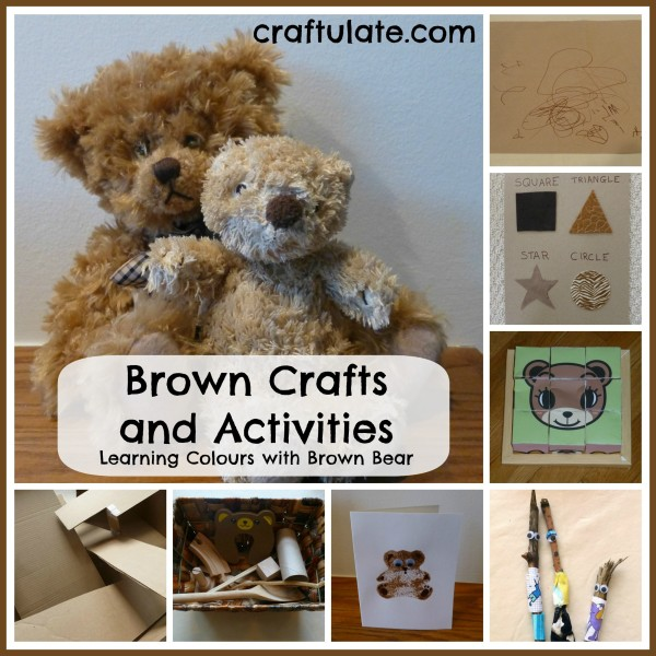 Brown Crafts and Activities {Learning Colours with Brown Bear Series}