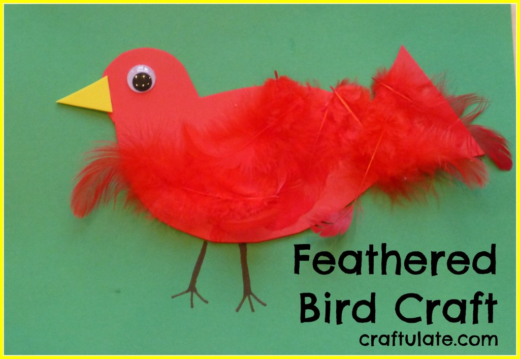 Feathered Bird Craft - an easy craft for toddlers