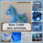 Blue Crafts and Activities {Learning Colours with Brown Bear Series}