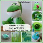 Green Crafts and Activities {Learning Colours with Brown Bear Series}