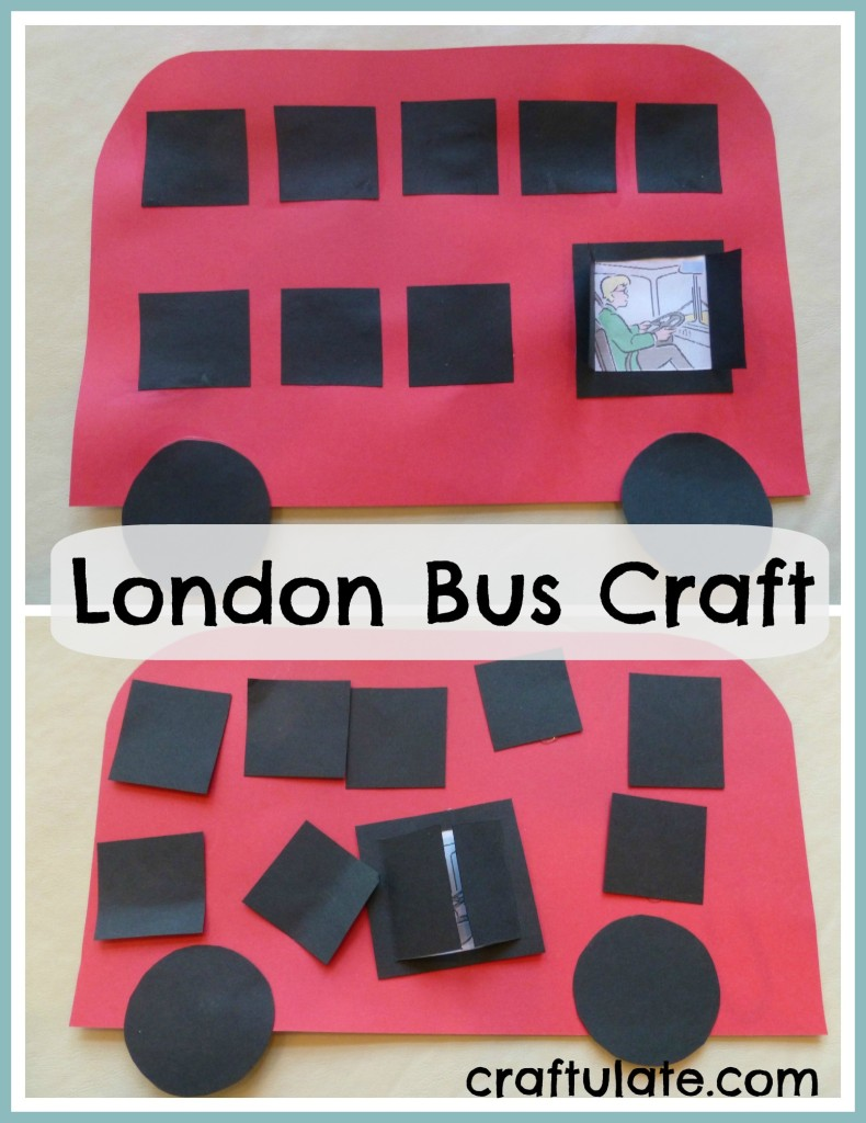 London Bus Craft - an easy craft for kids to celebrate this London icon!