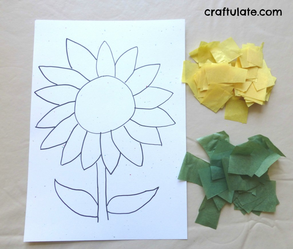 Sunflower craft craftulate sunflower craft mightylinksfo