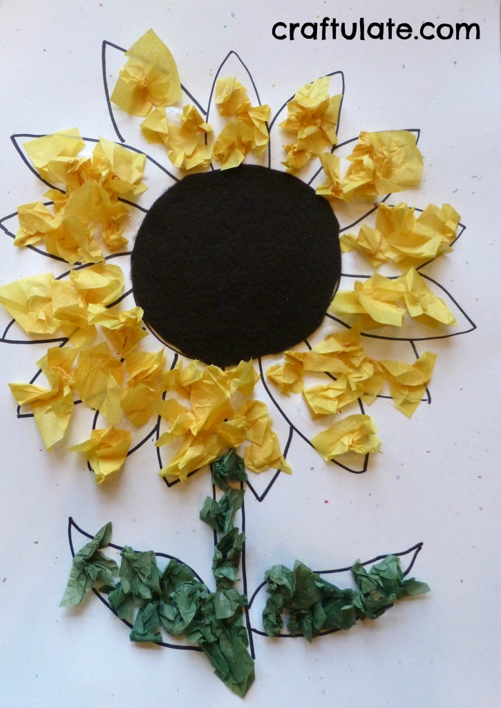 Sunflower Craft for Toddlers