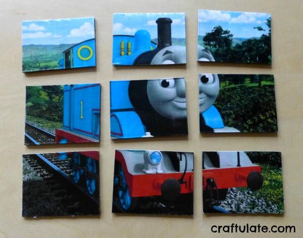 Homemade Jigsaw Puzzle – Thomas the Train