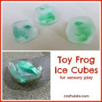 Toy Frog Ice Cubes