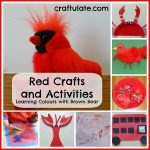 Red Crafts and Activities {Learning Colours with Brown Bear Series}