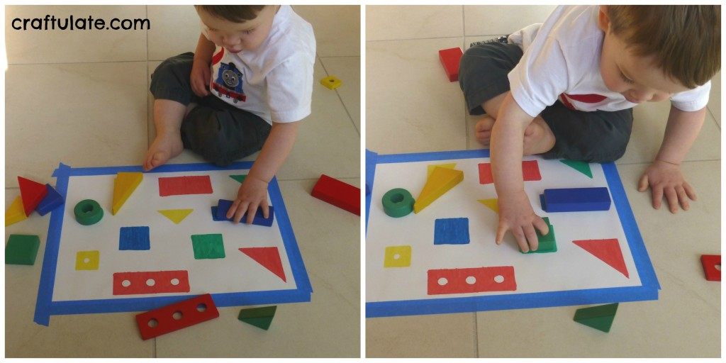Colour and Shape Matching with Blocks