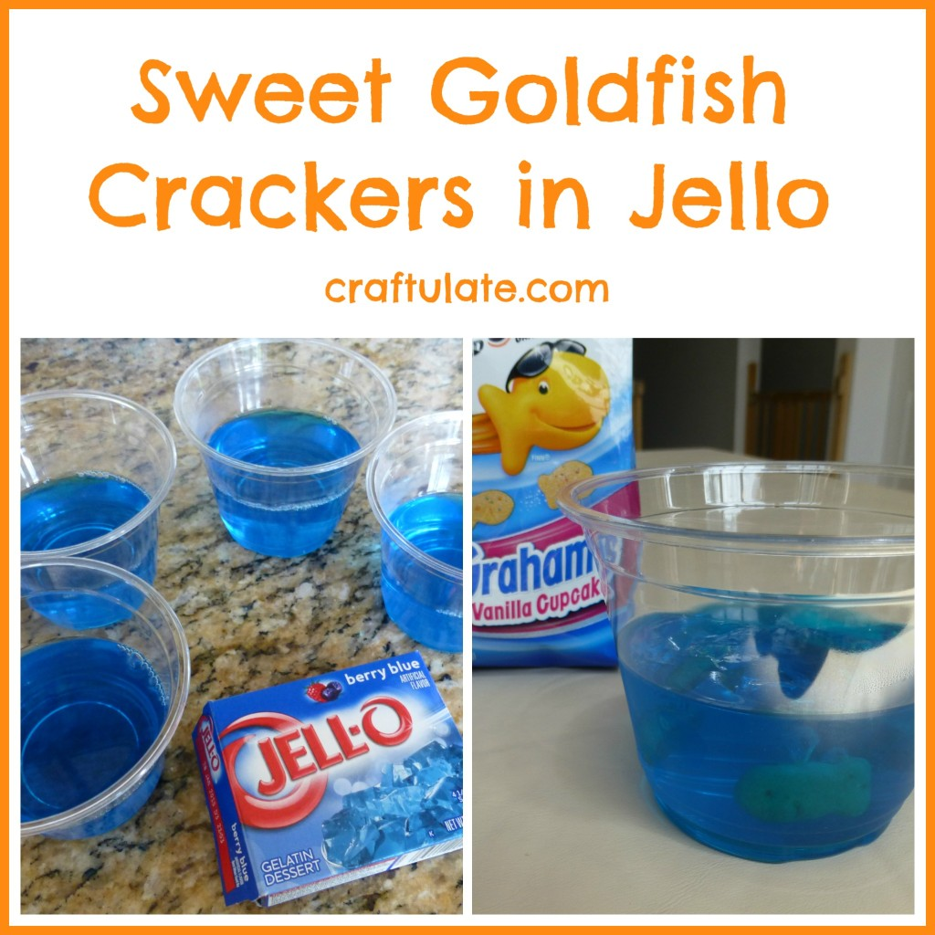 Sweet Goldfish Crackers in Jello