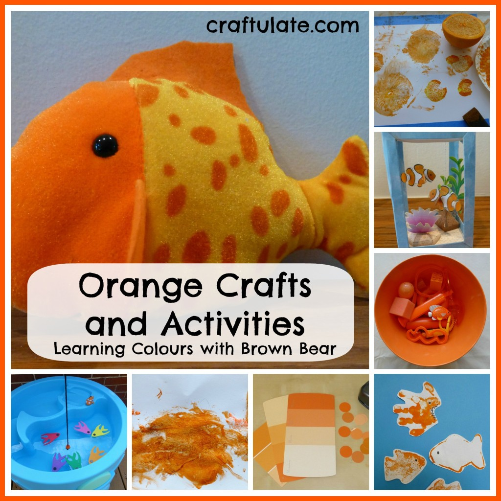 Orange Crafts and Activities {Learning Colours with Brown Bear Series}