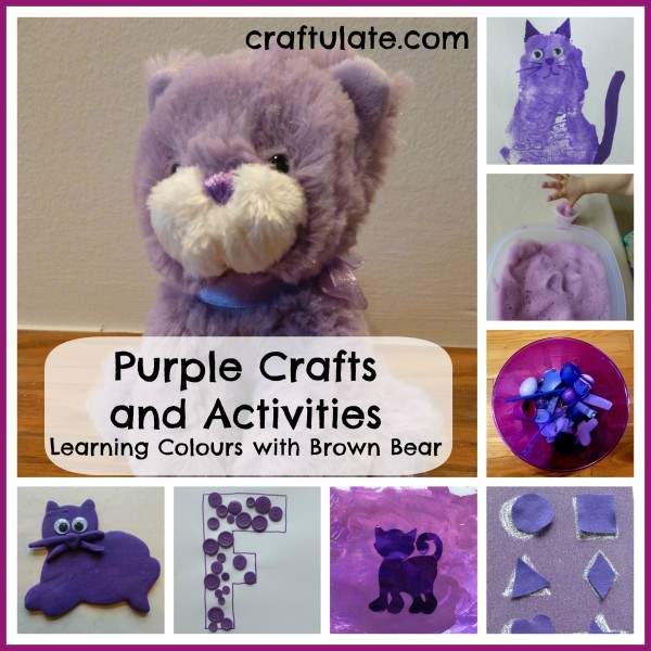 purple crafts and activities learning colours with brown bear